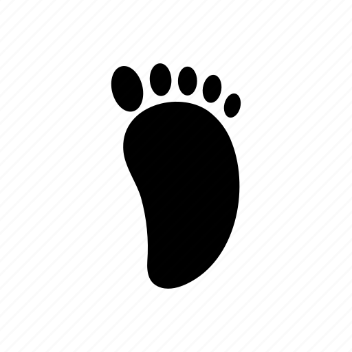 body, foot, footprint, member, organ, part icon