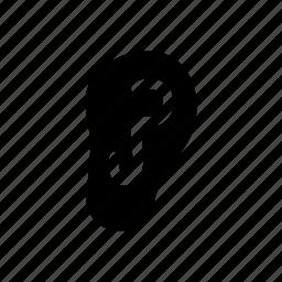 body, ear, member, organ, part icon