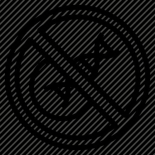 dna, gmo, non, organic, vegetable icon
