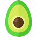 avocado, food, fruit, health, meal, organic icon