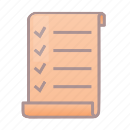 document, list, roleplay, rpg, script, scroll icon