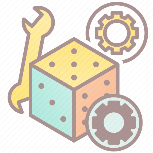 d6, dice, game mechanics, roleplay, rpg icon
