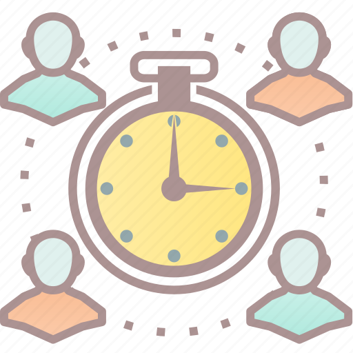 clock, team, time, time management icon