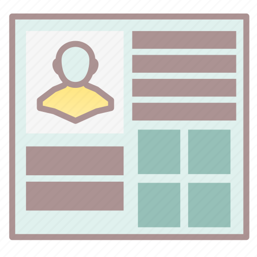 character list, document, portrait, resume, rpg, scheme, summary icon