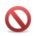 banned, forbidden icon