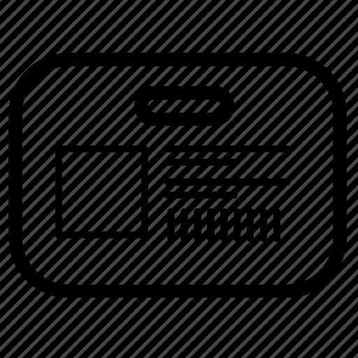 avatar, id, identity icon