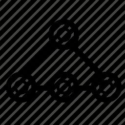 analytics, connection icon