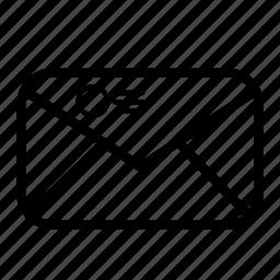 enveloper, message, stamp icon