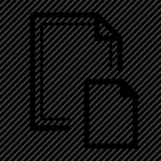 attachment, data, file, folder icon