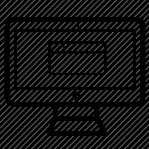 imac, interface, screen, window icon