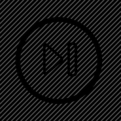 multimedia, player, skip, sound icon