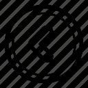 navigation, previous icon