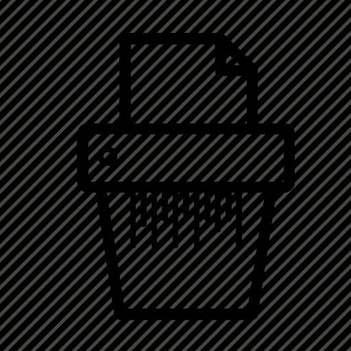 sheet, shred, shredder icon