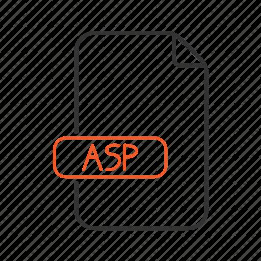 asp, extension, net, server, type icon