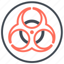 biohazard, biological, outbreak, pandemic, hazard, warning icon