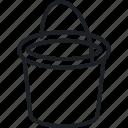 bucket, garden, glove, outdoor, watering can