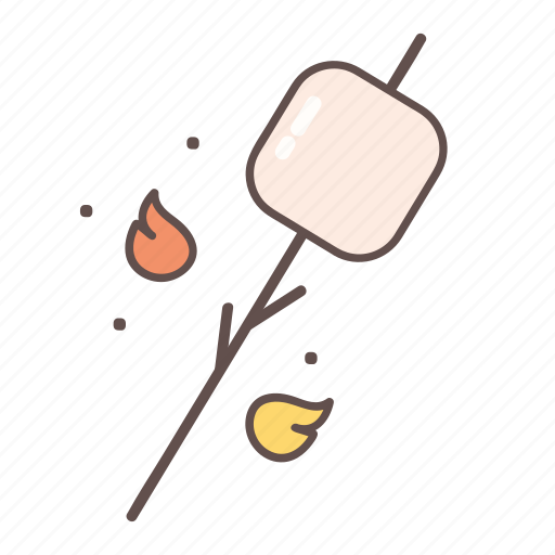 adventure, camping, marshmallow, outdoors, tourism icon