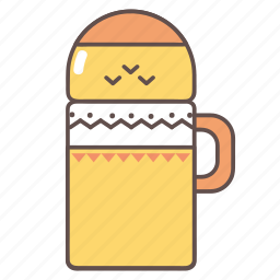 camping, hiking, outdoors, thermos, travel icon