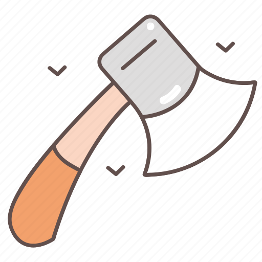 axe, camping, hiking, outdoor, travel icon