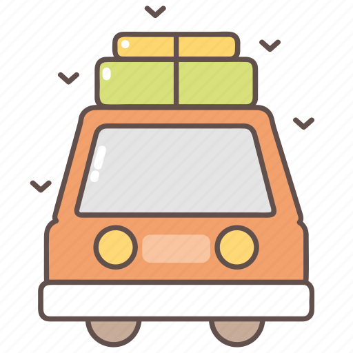 camping, car, outdoor, transport, travel, travelling icon