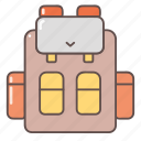 bag, camping, hiking, outdoors, travel backpack icon