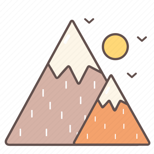 camping, hiking, mountains, nature, outdoor, travel icon