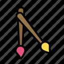 desk, job, office, paintbrushes icon