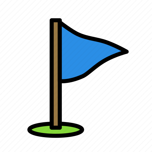 activity, flag, game, golf, sport icon
