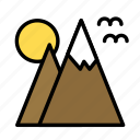 activity, game, mountains, sport icon