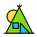 activity, day, game, sport, tent icon
