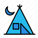 activity, game, night, sport, tent icon