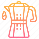 coffee, drink, kitchen, moka, pot icon