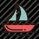 boat, sea, ship, sail
