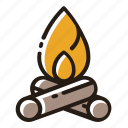 bonfire, campfire, fire, flame