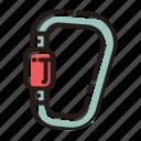 carabiner, climbing, outdoor, climb icon