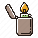 fire, flame, lighter, light icon