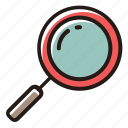 find, magnifying glass, search, magnifier