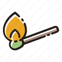 fire, flame, match, lighter icon