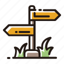 arrow, road sign, sign, direction
