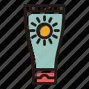 lotion, sunblock, sunscreen, beach icon