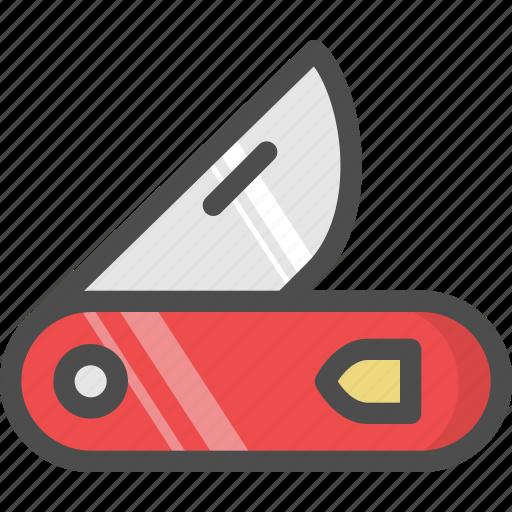 cut, knief, pocket, sharp, survival icon