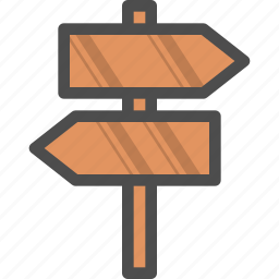 direction, indicator, plate, table, traffic, wood icon