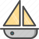 boat, sea, ship, wind icon