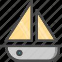 boat, sea, ship, wind