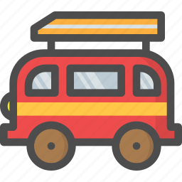 bus, camping, car, mini, travel, turist, vehicle icon