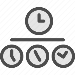 clock, time, travel, word, zone icon