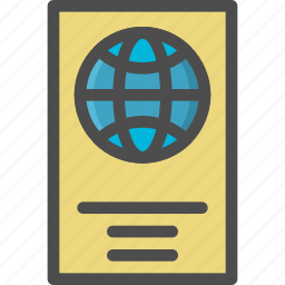 atlas, book, direction, map, travel icon