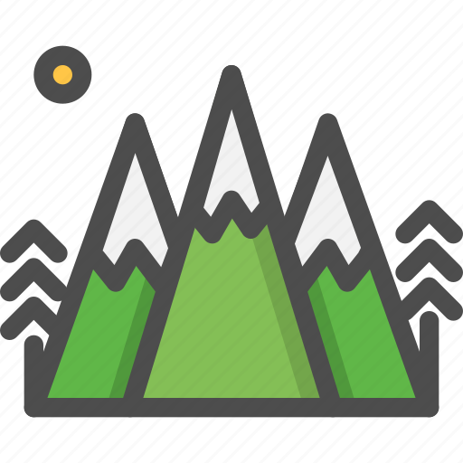 camping, mountaine, nature, summer icon