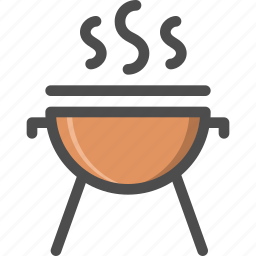 barbecue, cooking, frie, garden, meat, place, toast icon