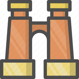 binocular, glass, telescope, zoom icon